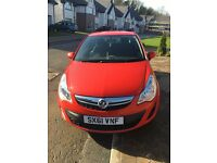 2011 (61 plate) Vauxhall Corsa 1.0 Ecoflex, 3dr, Red, Low mileage, Full Service History