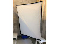 2 X Large Calumet Nova 72 Softboxes 54 X 72 X 32 inches + Bowens fit Speed Rings