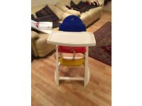 Plastic High Chair in very good condition