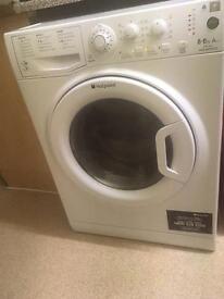 White Hotpoint Washing and Drying Machine.