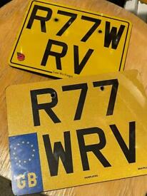 Ride To The Wall RTTW Number Plate RTTW Registration Number