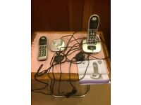 Cordless Phone with Big Buttons BT 4000 - two handsets.