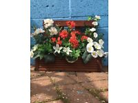 Artificial Outdoor Floral Planters