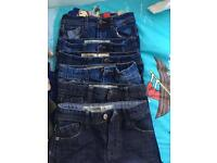 7 pairs of boys jeans 5-6