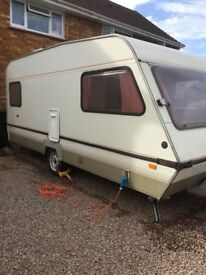 Abbey Monza 4 berth caravan with awning