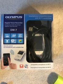 Dictaphone -Digital Voice Recorder. DM-7, Olympus.