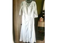 wedding dress (size 12) + veil