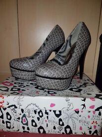 Grey high heels - size 4