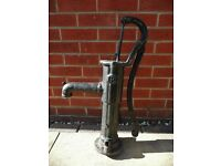 Black Cast Iron Hand Pump Garden Water Feature Accessory Decoration