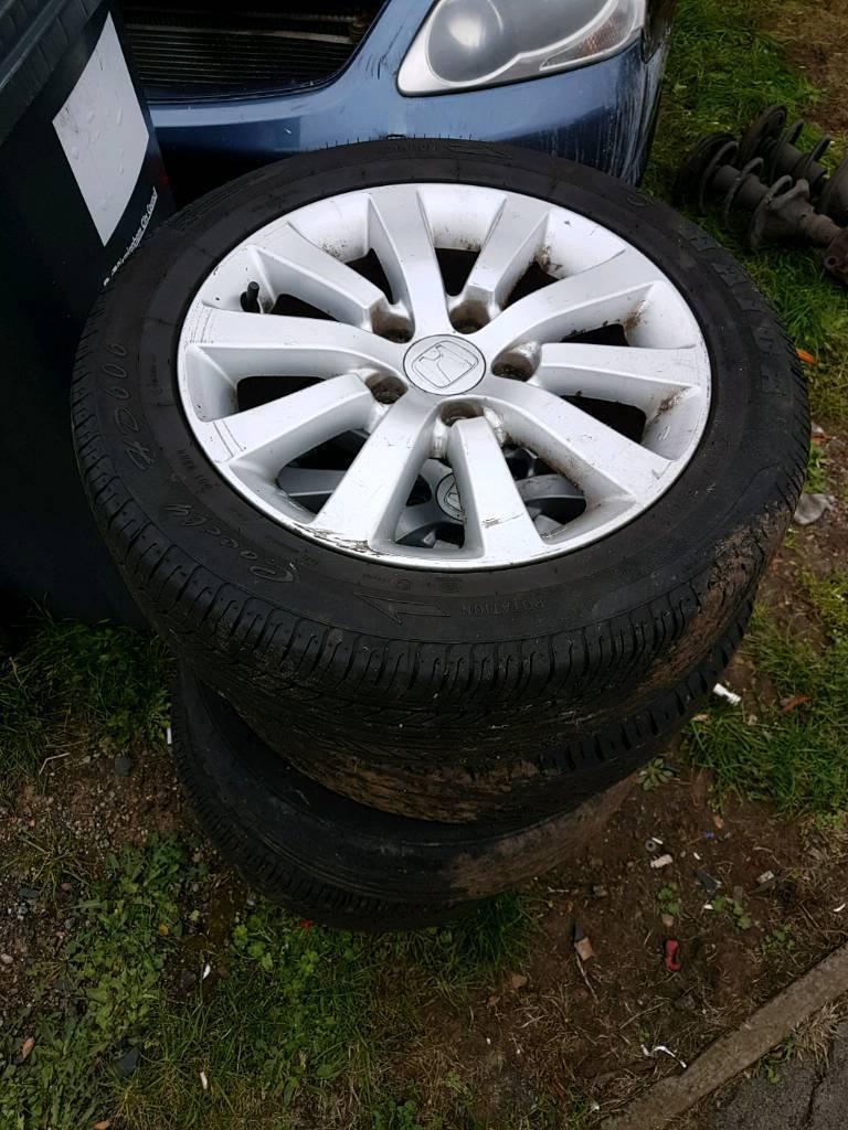 Honda civic type r type s alloy wheel with tyer