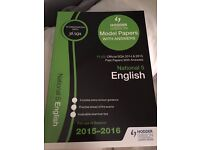 Hodder Gibson National 5 Official Past paper book (with answers) 2015-2016