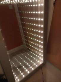Silver Frame Infinity Mirror