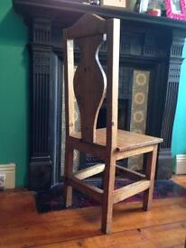 4x solid wood chairs