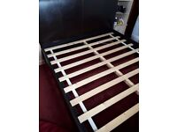 5FT LEATHER BED FRAME