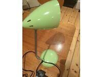 bedside lamp pale green