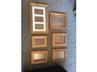 Picture frames - oak colour various sizes