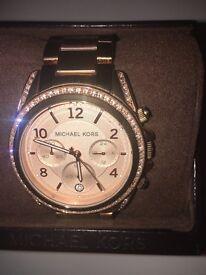Ladies Michael Kors Rose Gold Watch