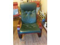 Leather panang chair