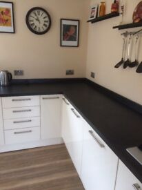 HOWDENS BLACK LAMINATE WORKTOP - NEARLY NEW!