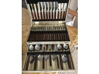 Vintage Retro 42 pcs cutlery set Smith Seamour Sheffield 07376179188