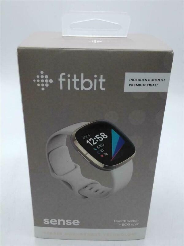 Fitbit Sense Advanced Smartwatch White/Gold, One Size (Screen has a crack)