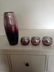 Next vase & candle holders