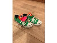 Bright green twister converse size 5