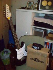 Three Quarter Size Guitar and amp