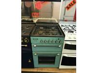 LEISURE 55CM GAS DOUBLE OVEN COOKER IN MINT GREEN