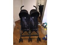 Maclaren Twin Triumph Double Buggy / Stroller Black Grey like NEW used once Portslade