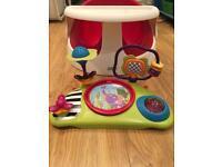 Mamas papas baby snug chair and toys