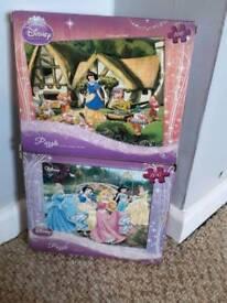 Disney princess puzzles x2