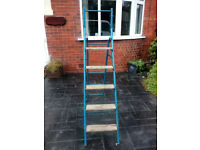 metal and wood vintage step Ladders