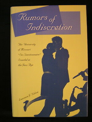 Rumors Of Indiscretion University Of Missouri Sex Questionnaire Scandal Jazz Age