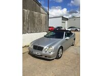 Mercedes CLK230 convertible for sale £1,850 ONO (2002, 64,000 miles, FSH, good condition)