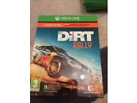 Dirt rally special edition Xbox one with free dvd.