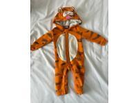 Tigger Pram suit 6-9 months. Disney store. Fleece lined