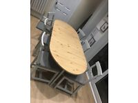 6 seater dining table and chairs, Ikea, Extending.