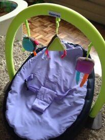 Doomoo baby beanbag and activity arch