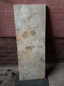 Marble hearth slab