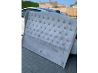 Grey king size bed from the luxury bed company
