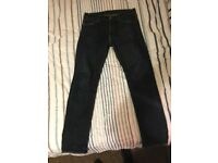 Levi 508 Mens Jeans - 32W x 34L - Comfort Stretch Skinny Fit - Dark Wash - Excellent Condition £15
