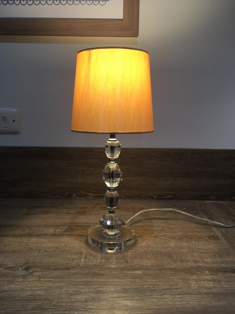 Table lampin Halfway, South YorkshireGumtree - Beautiful, heavy table lamp, with shade. 47cm tall. Clear lead and plug, lead length 160cm. Switch control on the lamp. Collection from Halfway
