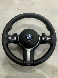 BMW f10 f11 5 & 6 series steering wheel & airbag paddleshift