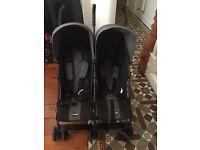 O baby double buggy black