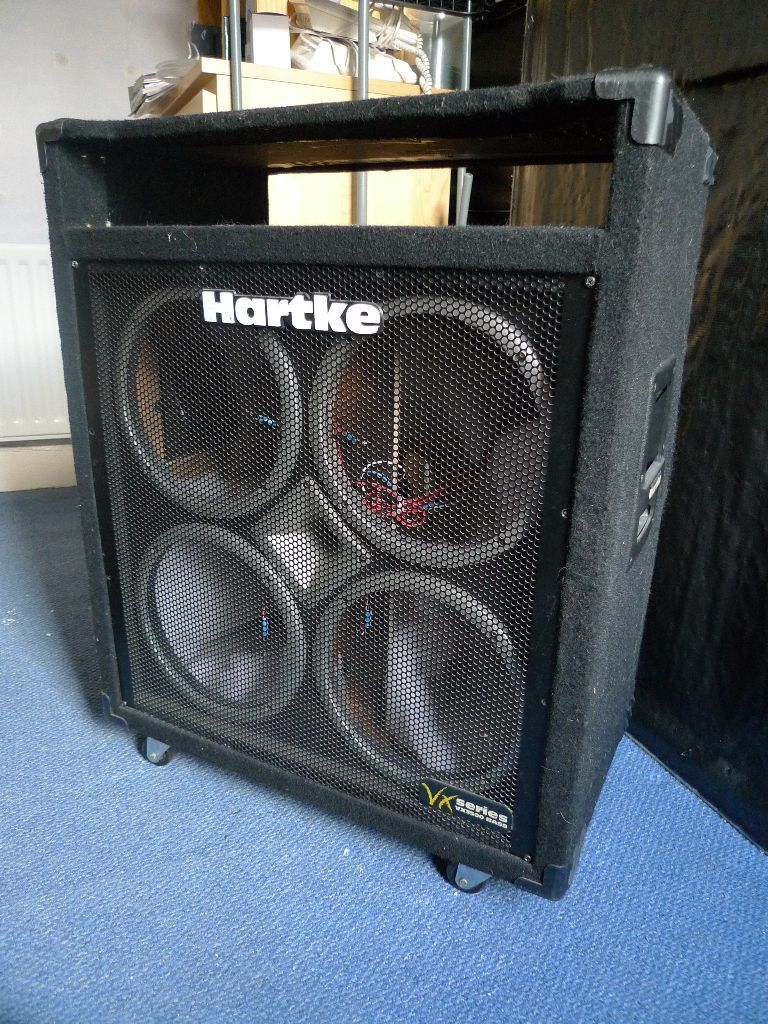 4x10 bass amp combo cabinet cab project hartke vx3500 with wheels and wiring in donegall. Black Bedroom Furniture Sets. Home Design Ideas