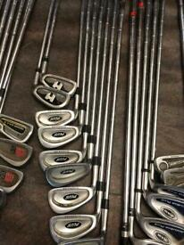 Left handed set used golf clubs