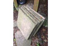 35 x bradstone Riven patio slabs
