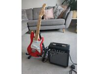 electric guitar red 3/4 size