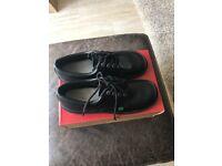 Kickers kick lo mens black leather shoes size 9